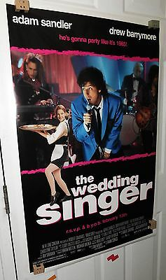 The Wedding Singer Theatrical Original Movie Poster D/S 2 Sided PREVIEW 1998