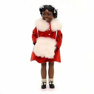 All Gods Children ANN (HOLIDAY) Polyresin African American Doll Black 2403, New