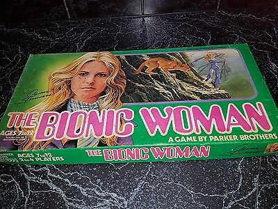 vintage ~The Bionic Woman game 1976 Parker Brothers ~