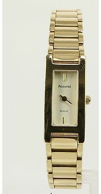 ACCURIST SOLID 9ct Gold watch WITH BOX