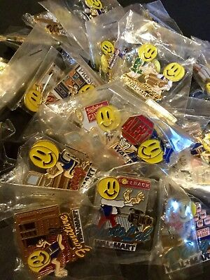 Walmart Wal Mart Employee Associate Department Pin Lot (20 Pins) Smiley Face