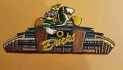 """UO Oregon Ducks Vintage Embroidered Iron On Patch 4""""x  2.5  Nice"""