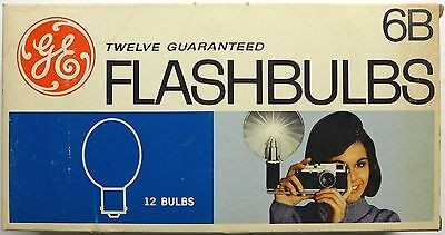 New Old Stock box of 12 General Electric 6B Flashbulbs