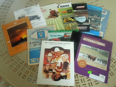 Lot of 12 Farm Brochures Catalogs Magazines Advertising Feed Cattle Sheep Angus