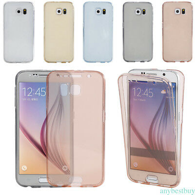 For Samsung  S8+ 360°Protective Shockproof Soft TPU Case Cover Protector Clear
