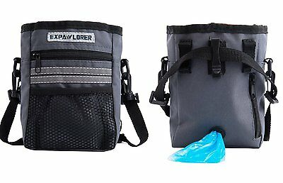 Reflective Dog Puppy Walking Treat Bag Training Pouch Bag With Adjustable Belt