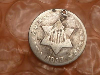 1853 Silver Three Cent Trime