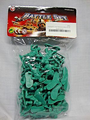 NEW ~50 Piece Plastic Green Army Men ~ 2 inch Soldiers ~ Sealed