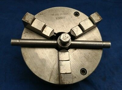 "SOUTH BEND 9"" & 10K LATHE ORIGINAL CUSHMAN 5"" , 3 JAW CHUCK 1-1/2""-8 63002 Logan"