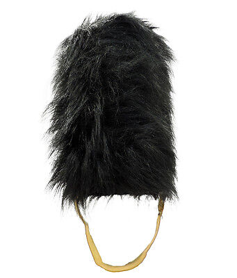 Royal British Queens Guard Bearskin Beefeater Fancy Dress English Costume Hat
