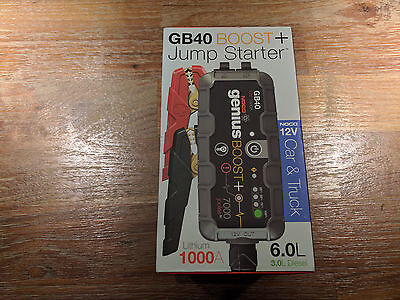 NOCO Genius GB40 Boost+ Jump Starter and Power Bank 1000 Amp