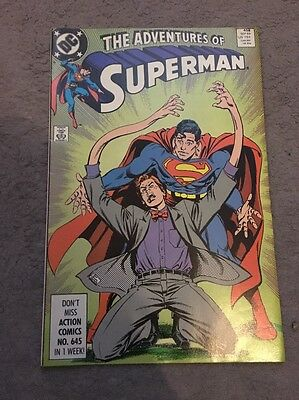 The Adventures Of Superman Comic Issue 458 1989