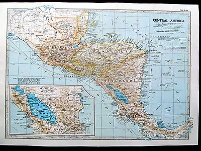 CENTRAL AMERICA. - ANTIQUE MAP - PUBLISHED  c.1900