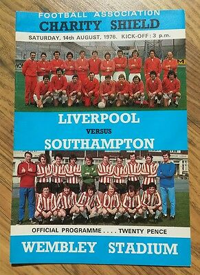 AUTOGRAPHED 1976 Charity Shield Programme - Liverpool vs Southampton