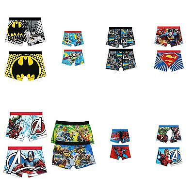 Boys Character Boxers Underwear Pants Boxer Shorts Trunks ages 4 to 10