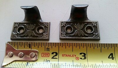 Pair Of Restored Antique Victorian Sash Lifts Window Lifts Cast Iron (A1)