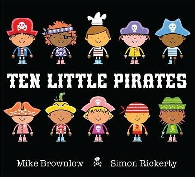 Ten Little Pirates by Mike Brownlow Paperback Book New