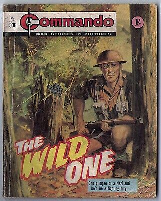 "Dated 1968. COMMANDO War Picture Comic # 338. ""The Wild One"""