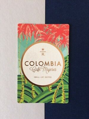 Starbucks Reserve Coffee Colombia Cafe Mujeres Taster Card