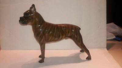 Vintage Rosenthal Classic Rose Collection Large Brindle Boxer Dog Figure
