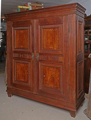 Superb Antique 19th Century French Solid Oak Two Door Armoire