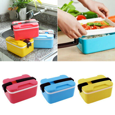 Microwave Bento Lunch Box Spoon Utensils Picnic Food Container Storage Box