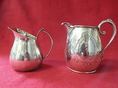 2 small silver plated milk jugs