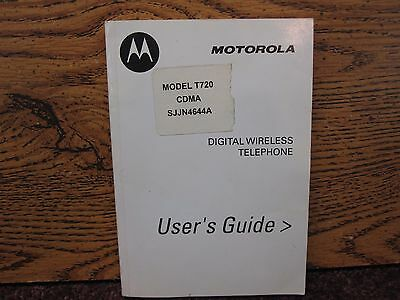 Motorola Digital Wireless Telephone Model T720 User's Guide