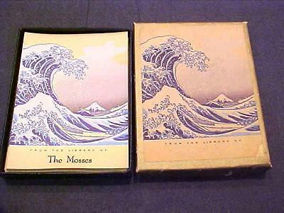 Vintage Bookplates In Original Box By Antioch I Named Ocean Waves Scene