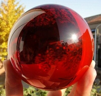 100mm + Stand Asian Rare Natural Quartz red Magic Crystal Healing Ball Sphere/_