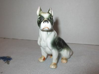 Ceramic Black and White Dog Boxer Boston Terrier