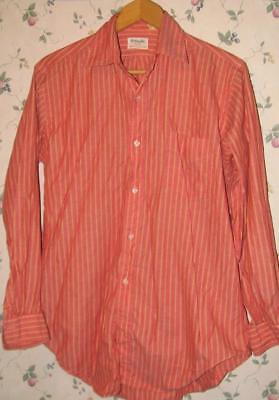 vintage Mens GANT Shirtmaker Button Down SHIRT 15.5 / 33 Red w Orange Stripe
