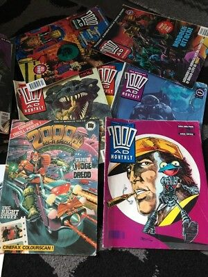 Vintage Judge Dredd 2000AD Crisis 2000AD Monthly Collection Job Lot