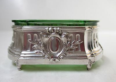 T. Fres .950 French Silver Salt with Green Insert - 1903