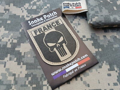 "SNAKE PATCH "" FRANCE PUNISHER "" TAN BV SABLE OPEX ARMEE commando SCRATCH"