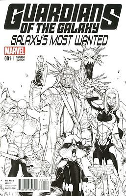 Guardians of the Galaxy Most Wanted #1 Marvel Comics Sara Pichelli 1:25 Variant