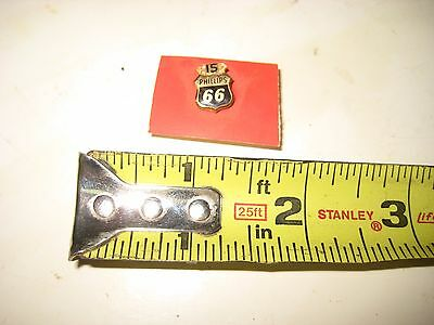 Vintage Gas & Oil Service Phillips 66 New NOS 15 Years safe Driving Pin