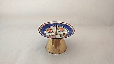 Steinbock Email Austria Enamel Candle Holder W/ Flowers