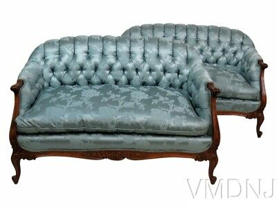 VMD 1394 Louis XVI Style Tufted Settee- A Pair