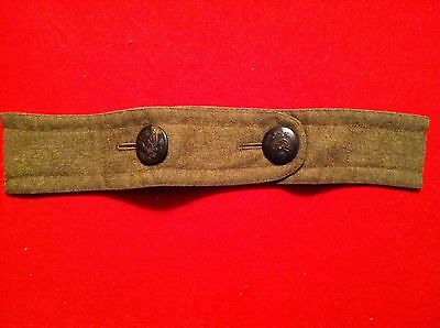 1902 Pattern U.S. Army Over Coat Belt and Button Section