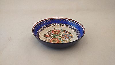 Steinbock Email Austria Enamel Small Pin / Nut Mint Dish Bowl Florals w/ Gold