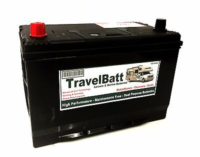 12V 130AH TB130 HD Deep Cycle Leisure Battery Caravan Powrtouch Classic Mover