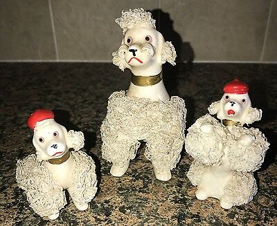 Lot of 3 Vintage Spaghetti Dogs Poodle Japan