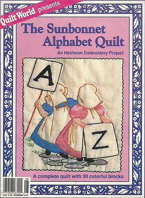 The Sunbonnet Alphabet Quilt Magazine by Quilt World - 30 Embroidered blocks