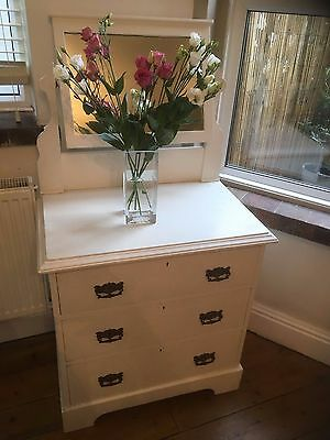 Dressing Table Victorian Pine Solid Painted