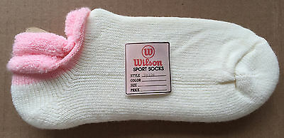 80's Vtg NEW Wilson Turbo Orlon Padded Roll Top Delicius Soft Sport Socks - Pink