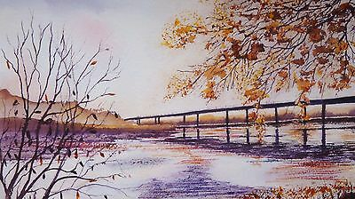 ART by GM, Original painting, Landscape The Bridge to the Torbay Riviera