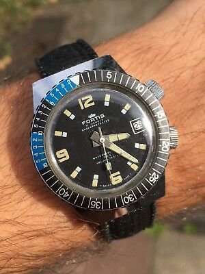 1970s Vintage Fortis 400 Mens Divers Watch