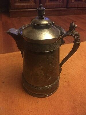 Antique Victorian Quadruple Plate Meriden Silverplate Water Pitcher- Jessie