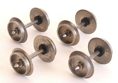 4 x Lima shiny metal wheelsets, for wagons & coaches, spares, wheels